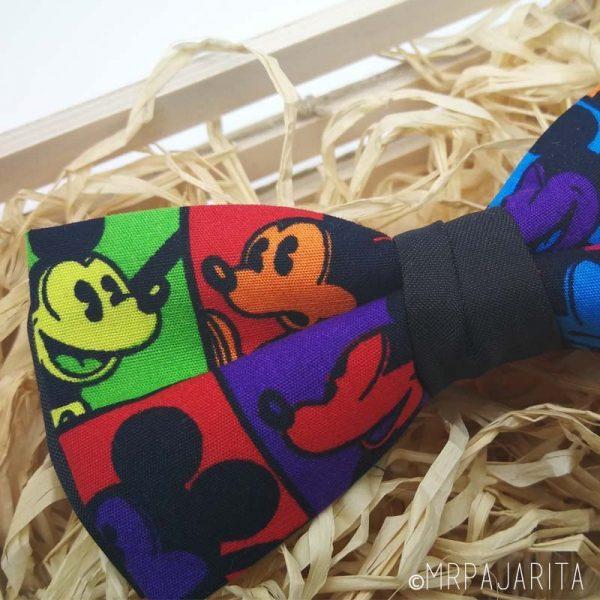 Pajarita Mickey multicolor