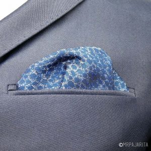 Pañuelo brocado azul