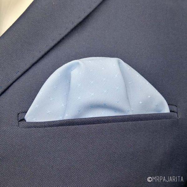 Pañuelo azul & topos