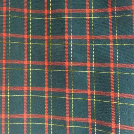 pajarita verde con cuadros escoceses en rojos