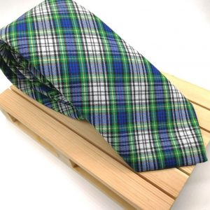 Corbata Scottish azul & verde
