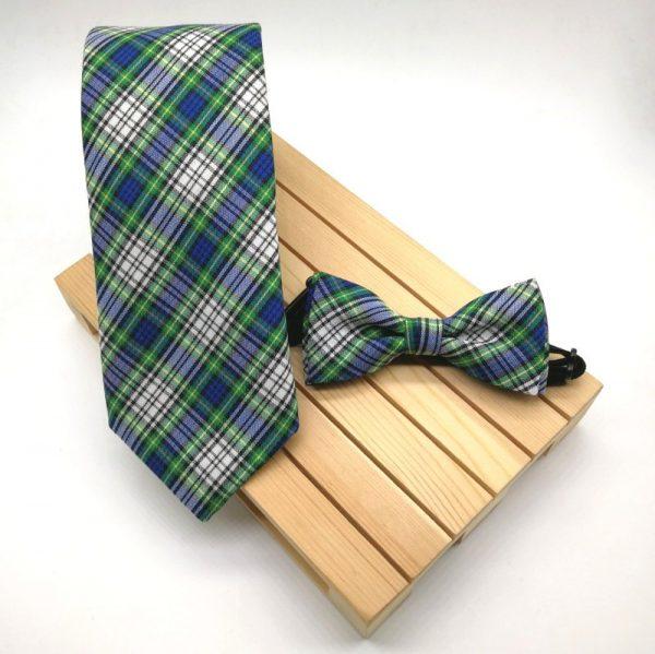 Corbata Scottish azul & verde