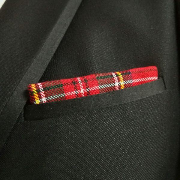 Pañuelo rojo cuadros escoceses