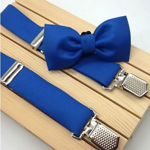 Conjunto de tirantes y pajarita azulon