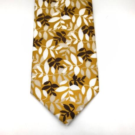 Corbata Ramas Mostaza
