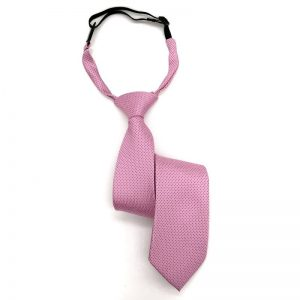 Corbata rosa con puntos negros