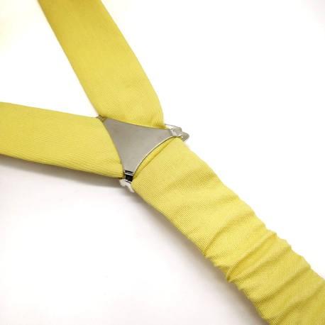 Tirantes y pajarita amarillo limón