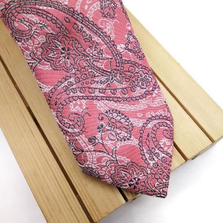 Corbata Salmon paisley