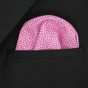 Pañuelo rosa Hojas