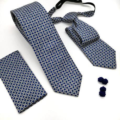 Corbata red azul