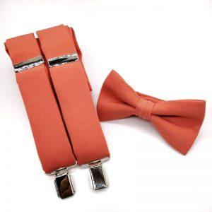 Tirantes y pajarita Coral anaranjado II