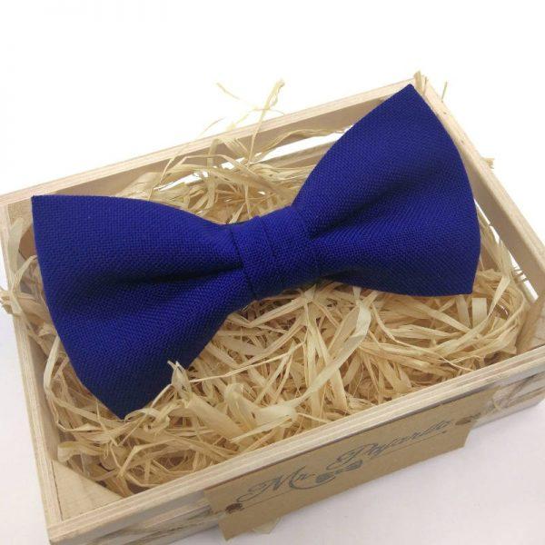 pajarita azul eléctrico
