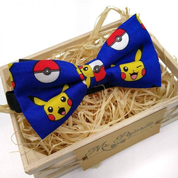 Pajarita azul pikachu