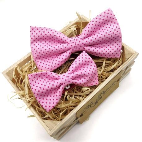 Pajarita rosa topos fucsia