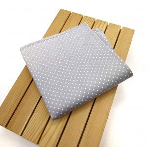 Pañuelo gris & topos