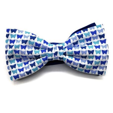 Pajarita mariposas azules