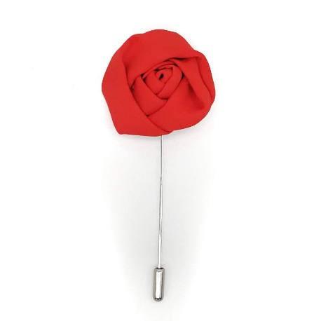 Alfiler solapa flor rojo vivo