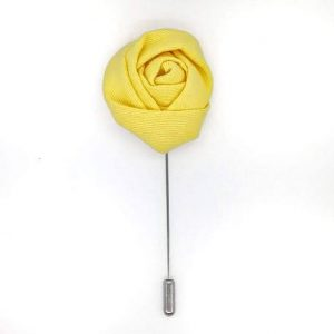 Alfiler solapa flor amarillo limón