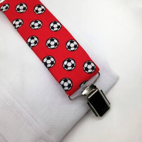 Tirantes futbol rojos