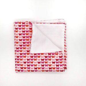 Pañuelo mariposas rosas