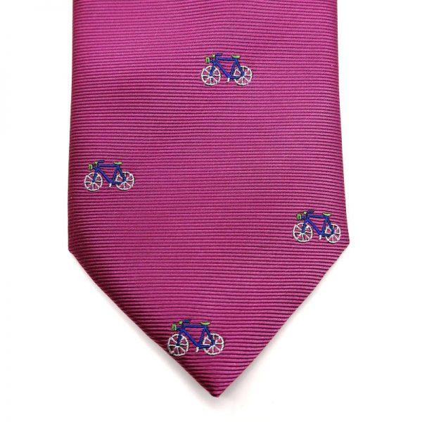 Corbata bicicletas fucsia