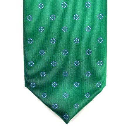 Corbata verde tornasol