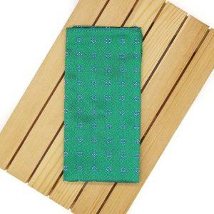 Pañuelo de bolsillo verde tornasol