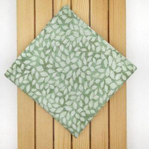 Pañuelo de bolsillo hojas verdes