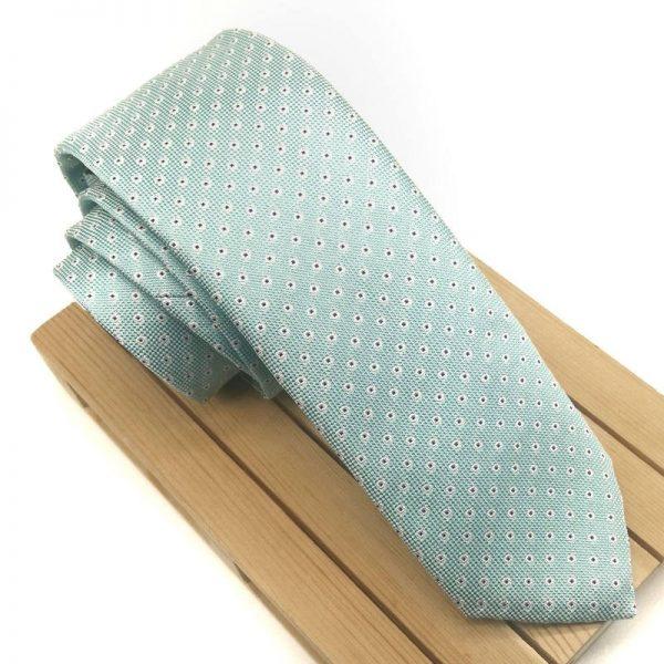 Corbata verde agua marina
