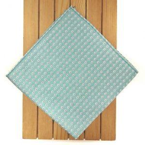 Pañuelo de bolsillo verde agua marina