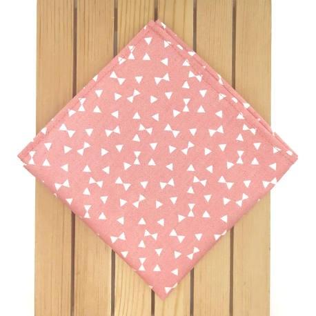 Pañuelo salmón triángulos