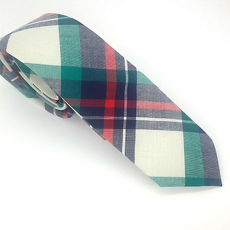 Corbata de cuadros azul y verdes