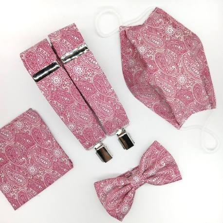 Pajarita rosa paisley