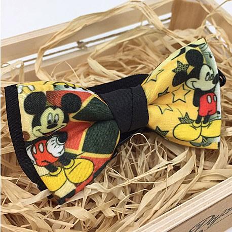 Pajarita Mickey amarilla