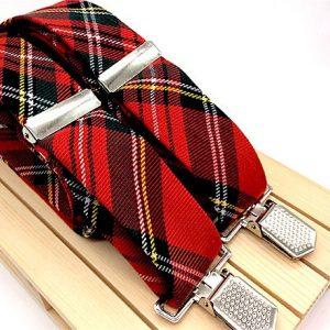 Tirantes Rojos cuadros escoceses